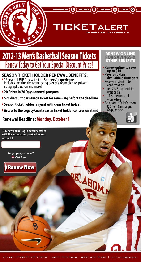 University of Oklahoma great renewal incentives