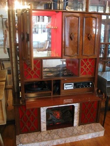 Koronette Stereo Bar Cabinet Record Player 8 Track