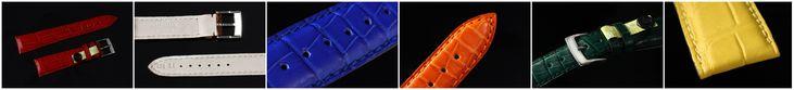 Kaufmann Uhrenarmbänder aus Alligatorleder Full Cut mit Dornschließe   verschiedene Farben
