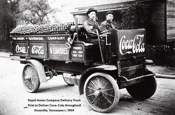 1909 First delivery of Coca-Cola to Knoxville