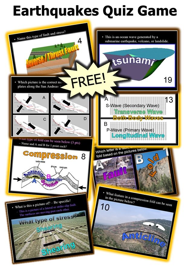 Более 25 лучших идей на тему «Earthquake games» на Pinterest - free quiz template