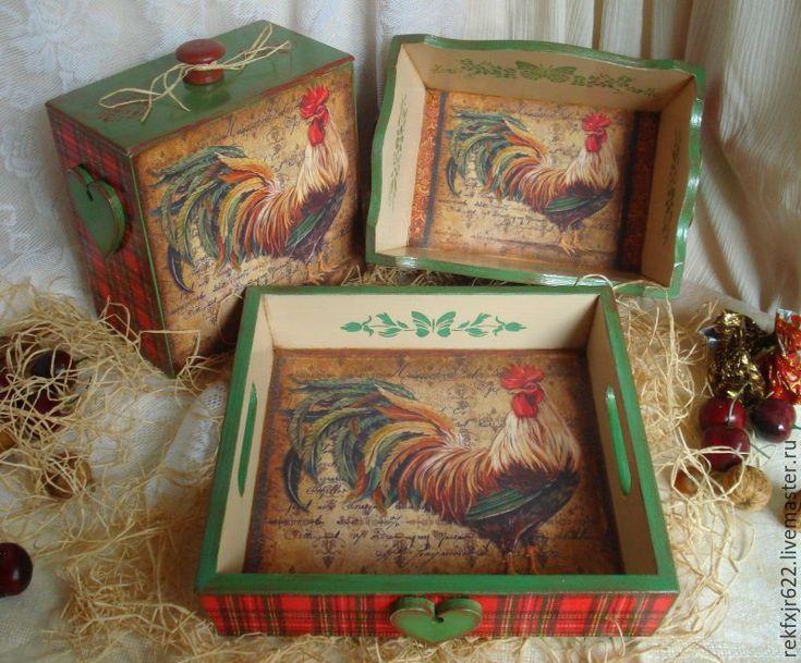 Купить набор Хозяин усадьбы. - год петуха 2017, подарок на новый год, для дома и интерьера, набор для кухни