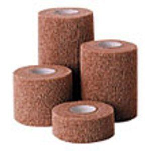 """Co-Flex Bandage by Andover. $1.64. An economical bandage for use on large and small animals when a lightweight compression bandage is required. Use for wound dressings, de-claw procedures, light support wraps, catheters, wrapping horse tails and leg wraps. Size 4"""" x 5 yards."""