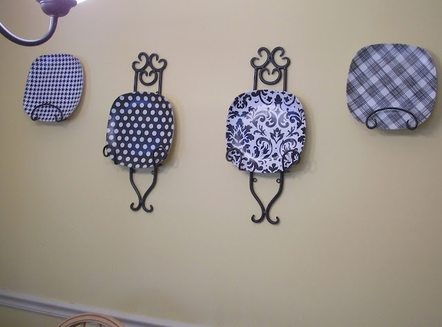 decorative wall plates from dollar store plates tissue paper and mod podge - Decorative Wall Plates