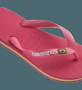 Havaianas Brazil Logo Womens Neon Pink