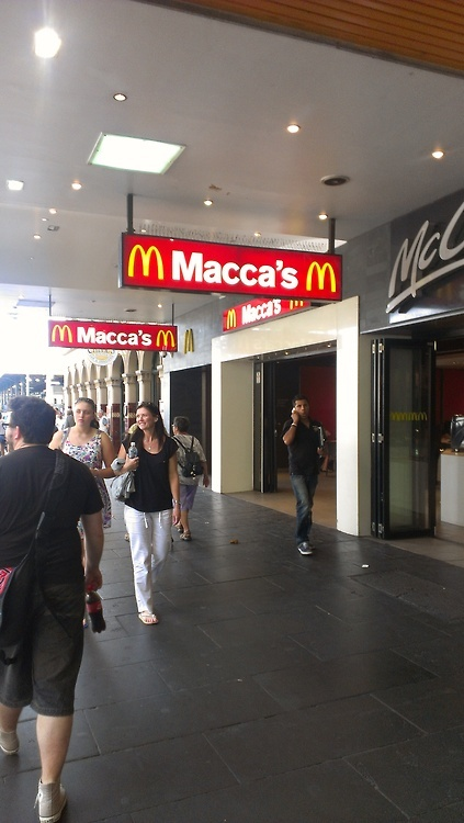 "Not actually an Aussie icon but interesting - McDonald's will change their logos to ""Maccas"" - Australia is the only country who calls McDonald's that!"