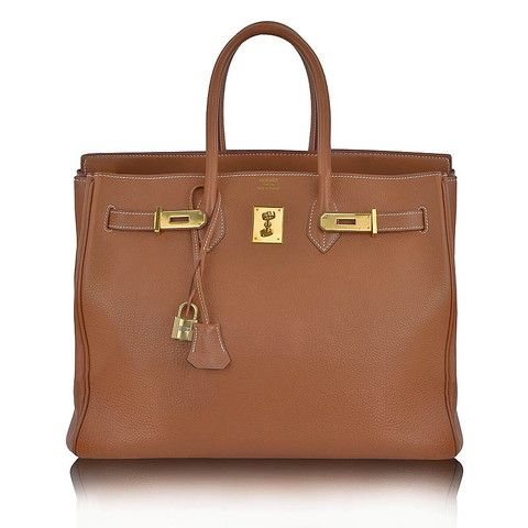HERMES 30cm Cognac Brown Leather & Gold Hardware Birkin Bag