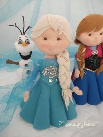Elsa e Anna frozen em Feltro