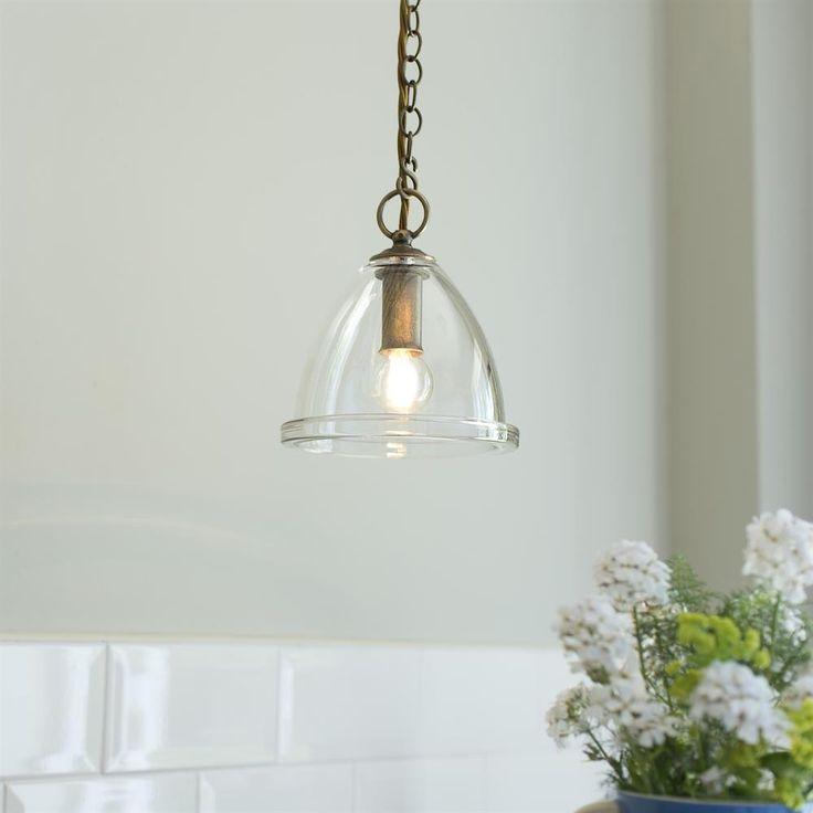 Brass Dairy Pendant Light | Glass Ceiling Light | Jim Lawrence