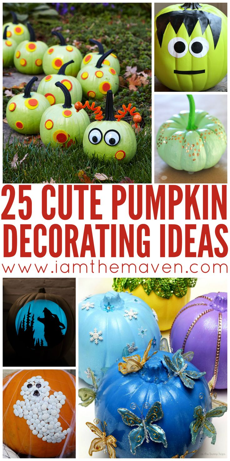 Need some pumpkin decorating ideas? Here are 25 that have both carved and non…
