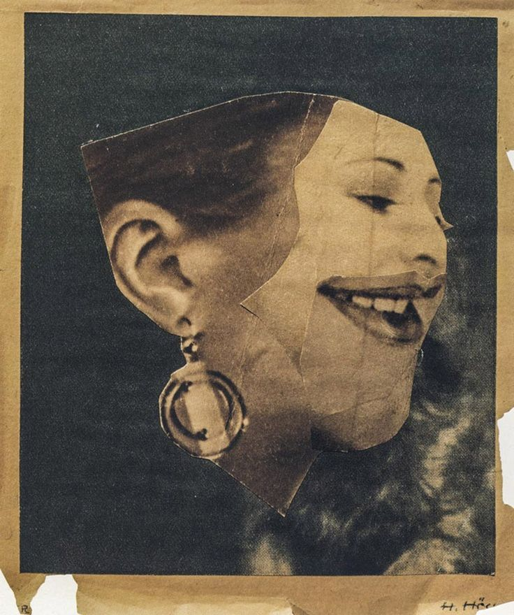 Hannah Hoch - photomontage during the Weimar Republic.