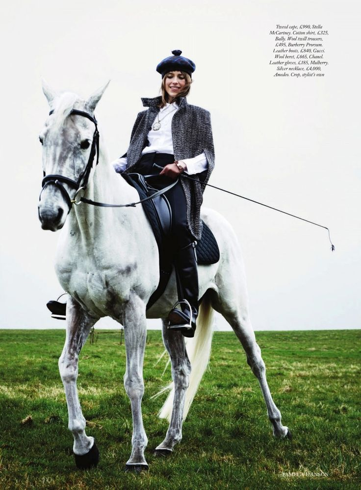 www.pegasebuzz.com | Horse in Fashion : Sojourner Morrell by Pamela Hanson for Harpers Bazaar UK, june 2013: