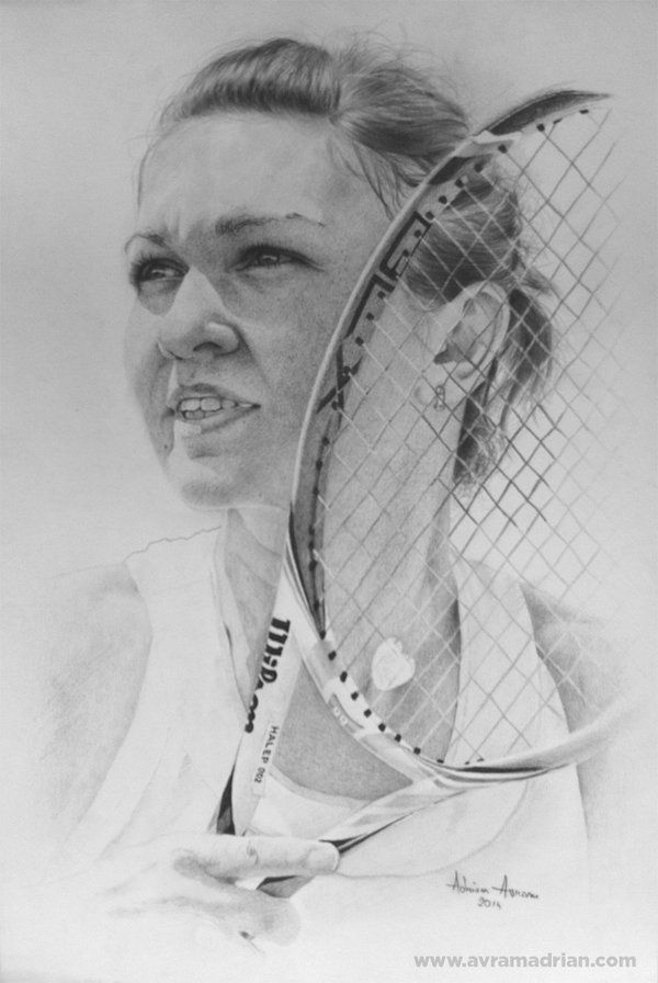 Simona Halep drawing by AATheOne.deviantart.com on @DeviantArt