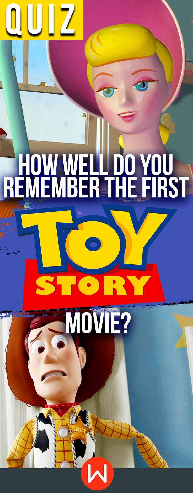 Disney Quiz: Do you remember Toy Story 1? Let's see if you know everything about the first Toy Story movie. Disney trivia, Woody, Buzz Lightyear, Jessie, Zurg...buzzfeed quizzes, playbuzz quiz, fun quizzes, Disney bound. To infinity and beyond!