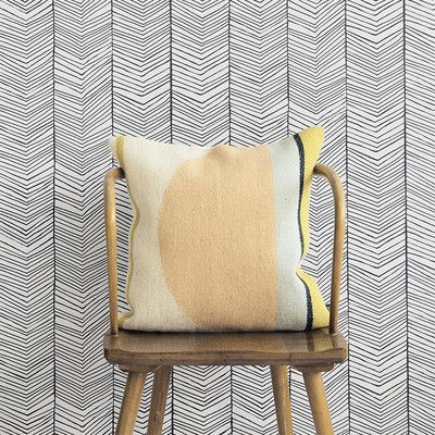 "Scantrends Ferm Living WallSmart Hand Printed Chevron 32.97' x 20.87"" Geometric Wallpaper 