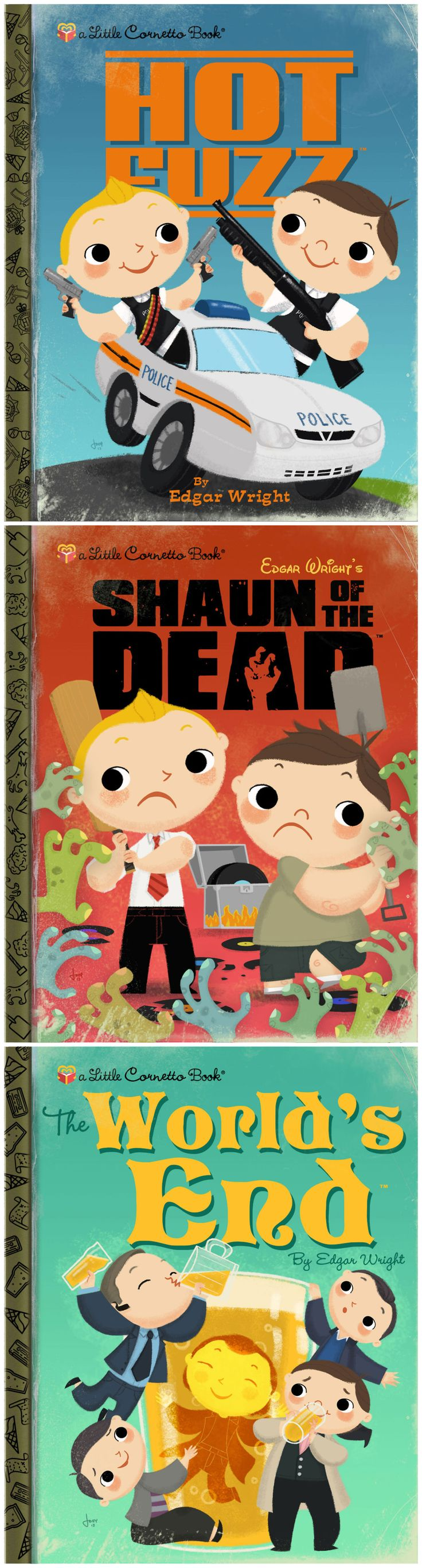 The Little Cornetto Book Series by Joey Spiotto (Edgar Wright, Simon Pegg, Nick Frost).... Love it.