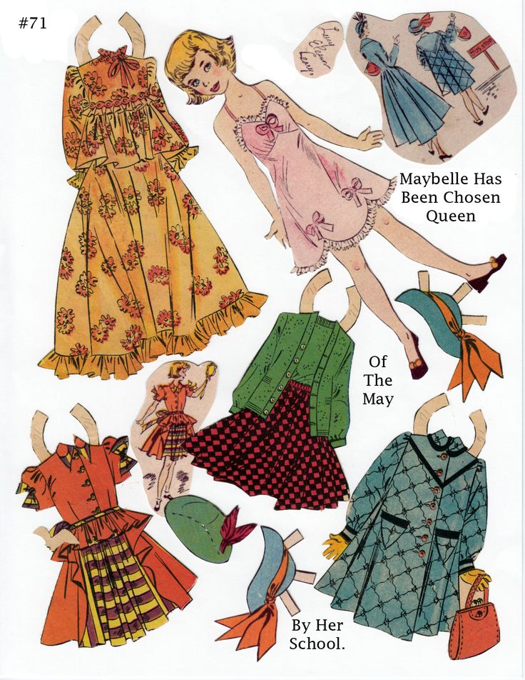 Maybelle paper doll