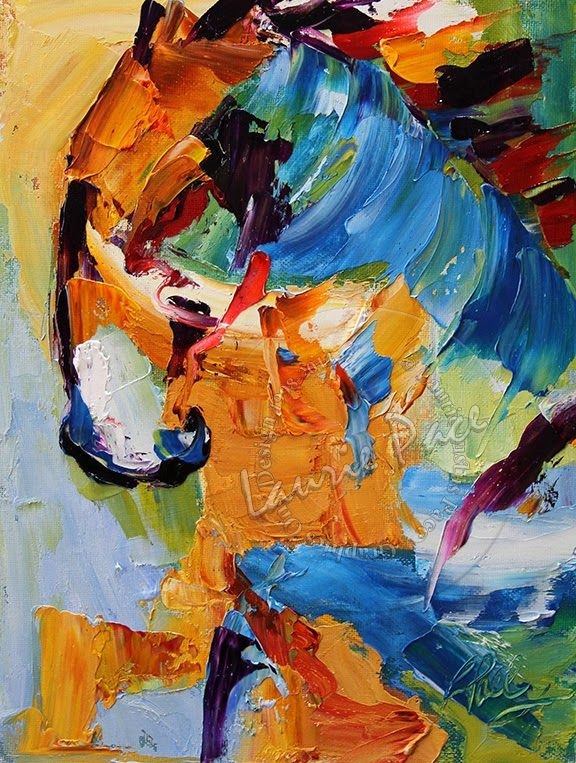 Contemporary Artists of Texas: Horse #12 Hesitation by Texas Artist Laurie  Pace