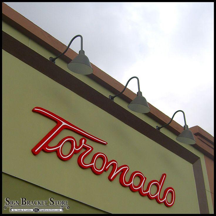 Toronado Sign With Gooseneck Lighting