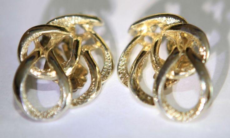 Sarah Coventry Multi Loop Ribbon Earrings in Gold by GenusJewels on Etsy