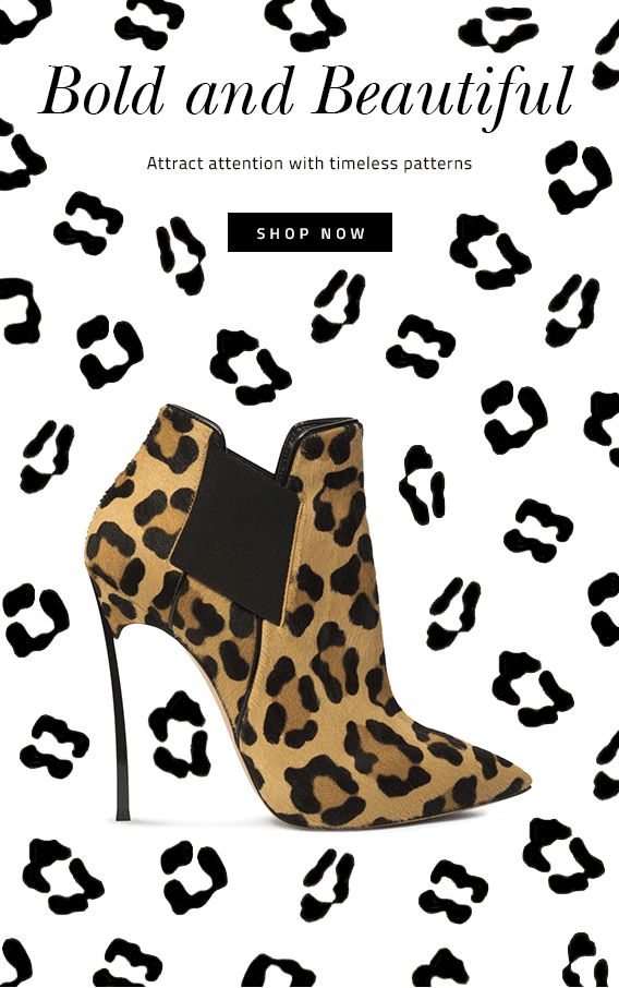 #newsletter #animated Casadei 10.2014 Style alert: Go With Wild Print