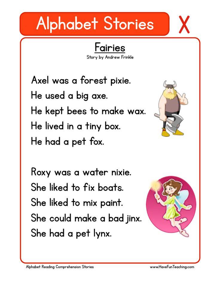Alphabet Stories Letter X Reading Comprehension Worksheet ...