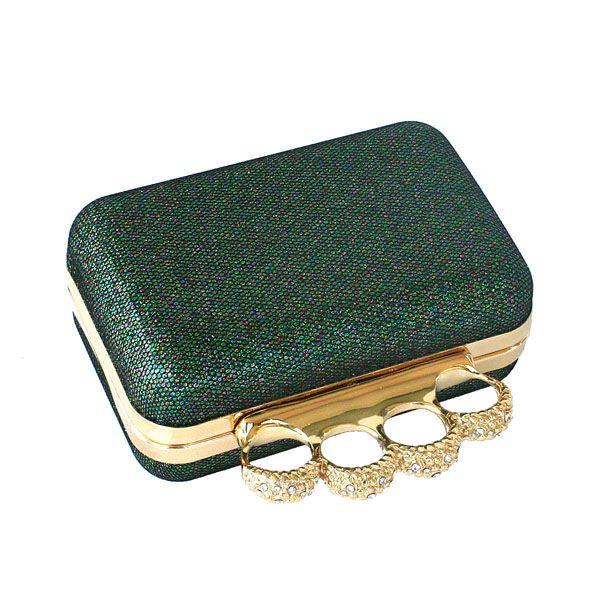 Brass knuckles clutch