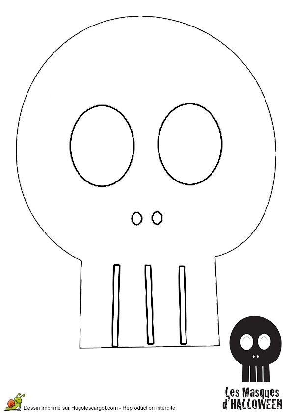 37 best images about bricolages et recettes pour halloween - Tete de mort facile a dessiner ...