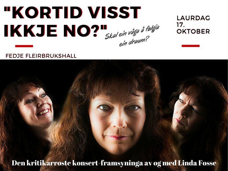 Linda Fosse og Frode Skalg Storheim er klar for å dra til Fedje 17. Oktober 2015.