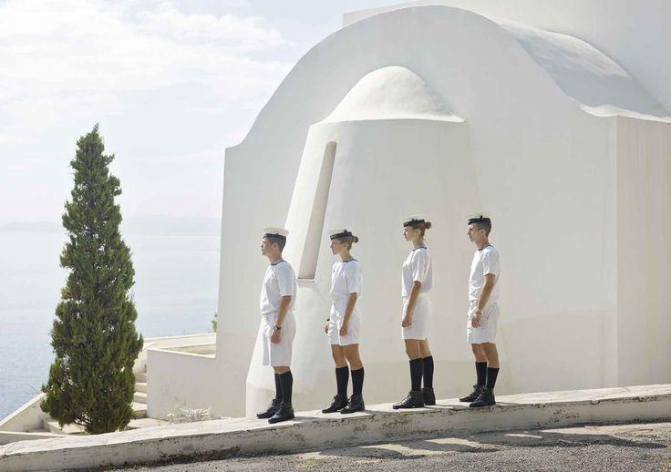 Paolo Verzone : Grèce, Académie Navale Hellénique le Pirée - Portrait - Militaires
