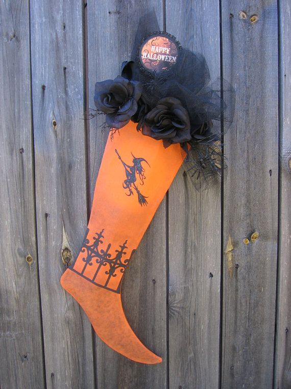 Halloween Door or Wall Decoration One of a by ArtfullyHandcrafted, $40.00