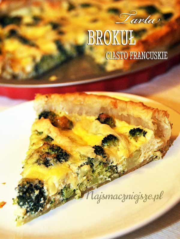Tarta z brokułami, tarta, brokuł, najsmaczniejsze.pl, tarta brokułowa, obiad