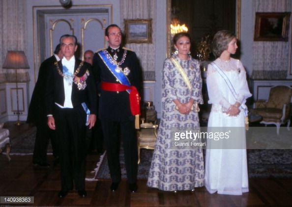 News Photo : The Shah Reza Pahlavi, the Spanish King Juan...