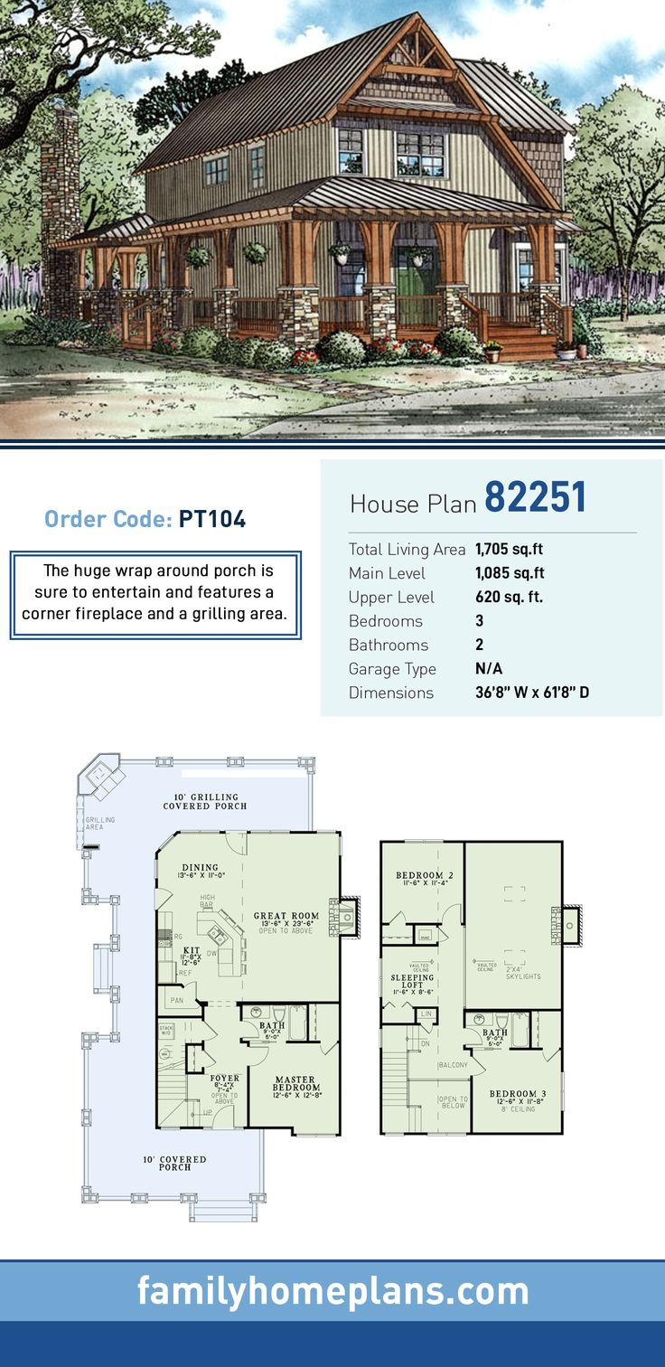 Country Craftsman House Plan 82251 447 best
