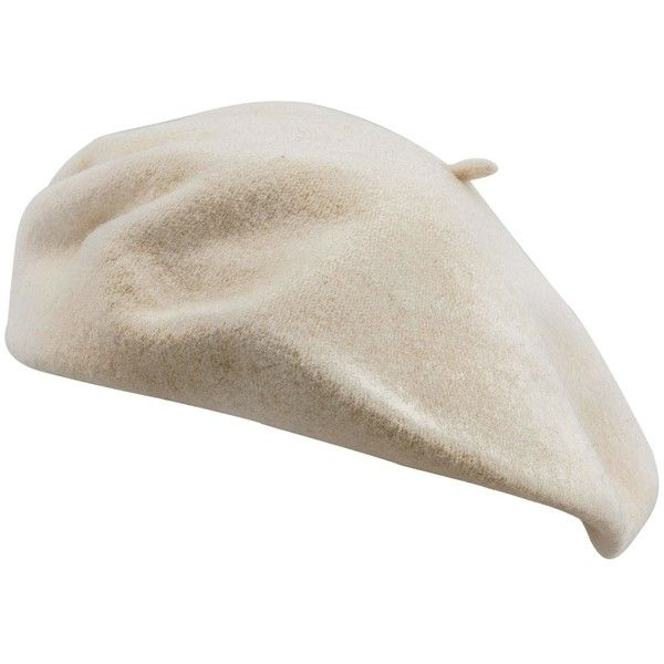 Écru / cream soft wool classic elegant beret | Fast Shipping ❤ liked on Polyvore featuring accessories, hats, wool hat, wool beret, woolen hat, beret hat and cream hat