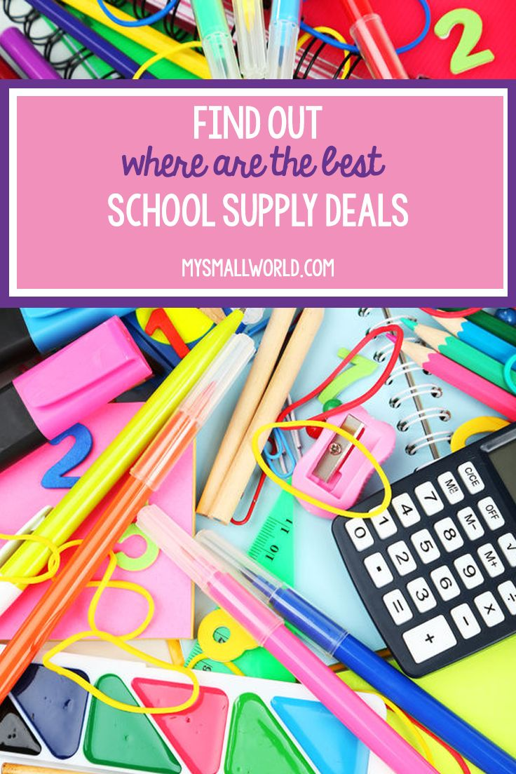 Wondering where the best school supplies deals are? We update our post each Sunday with the best deals from Target, Walgreens, Office Depot, Walmart, and HEB Grocery.   school supply   school supply savings   school supply sale   school supplies savings   school supplies sale   via @smallworldblog