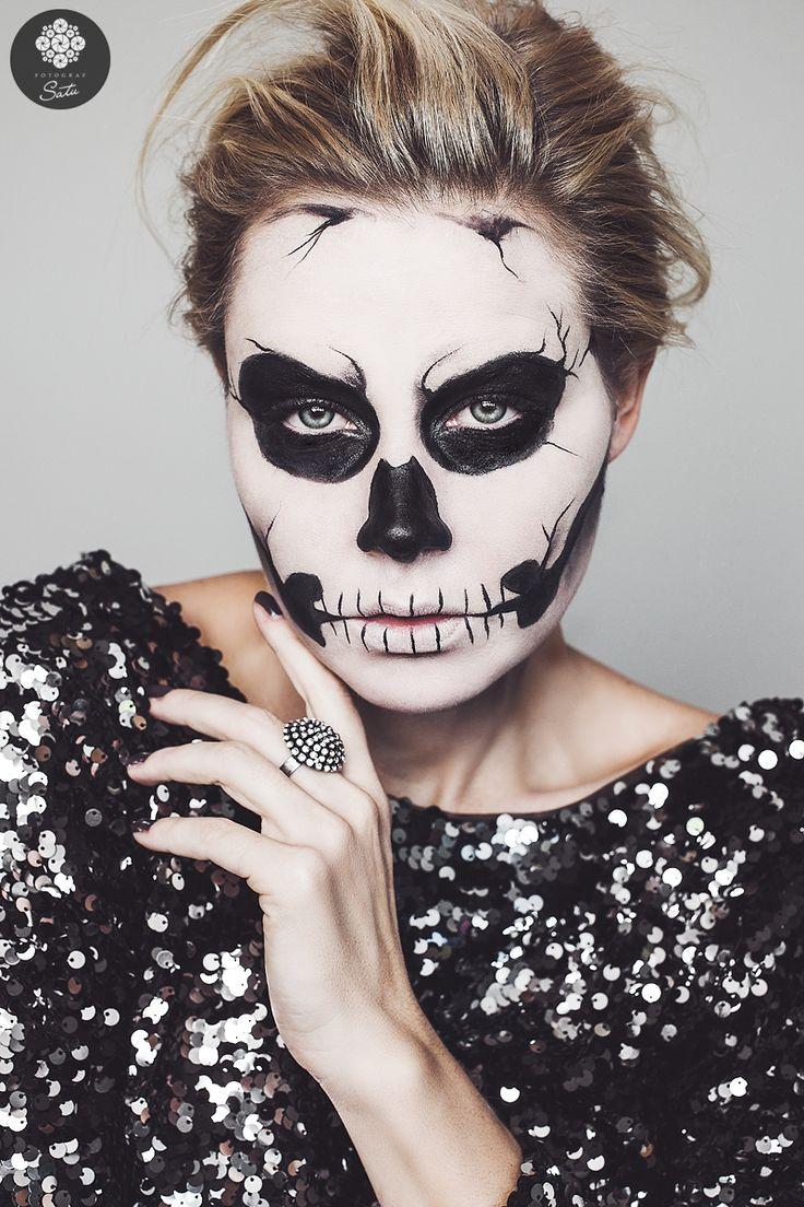 die besten 25 skelett make up ideen auf pinterest sch ner skelett make up halloween skelett. Black Bedroom Furniture Sets. Home Design Ideas