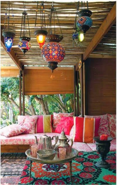 My 10 Favorite Bohemian Patio Ideas. | The House of Boho