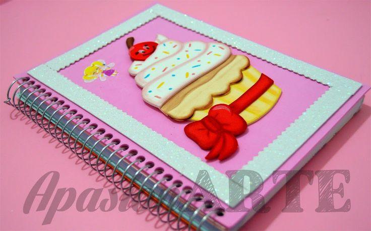 ApasionARTE: Cuaderno Cupcake en Goma Eva (Paso a paso)
