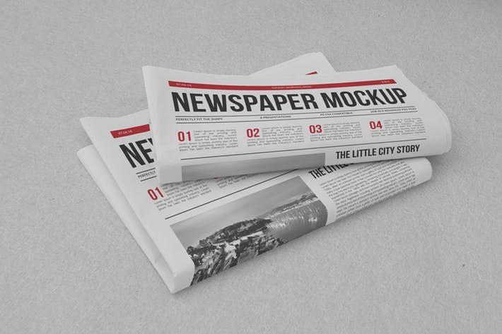 Newspaper Mock Up By Yogurt86 On Envato Elements Newspaper Mockup Free Mockup