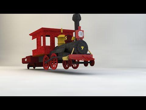 SpeedModelling - Wild West Train V1 (Cinema 4D) - YouTube