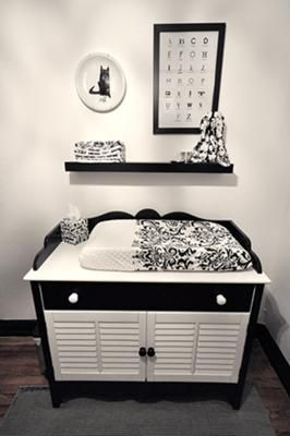 Black and White Baby Nursery: Black And White Baby, White Nurseries, Lights Fixtures, Baby Nurseries Black White, Future Baby, Baby Rooms, Eye Chart, White Baby Nurseries, Baby Stuff