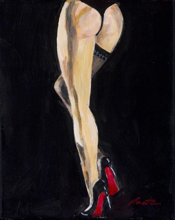 Dita Von Teese - Burlesque Diva    Original painting on canvas