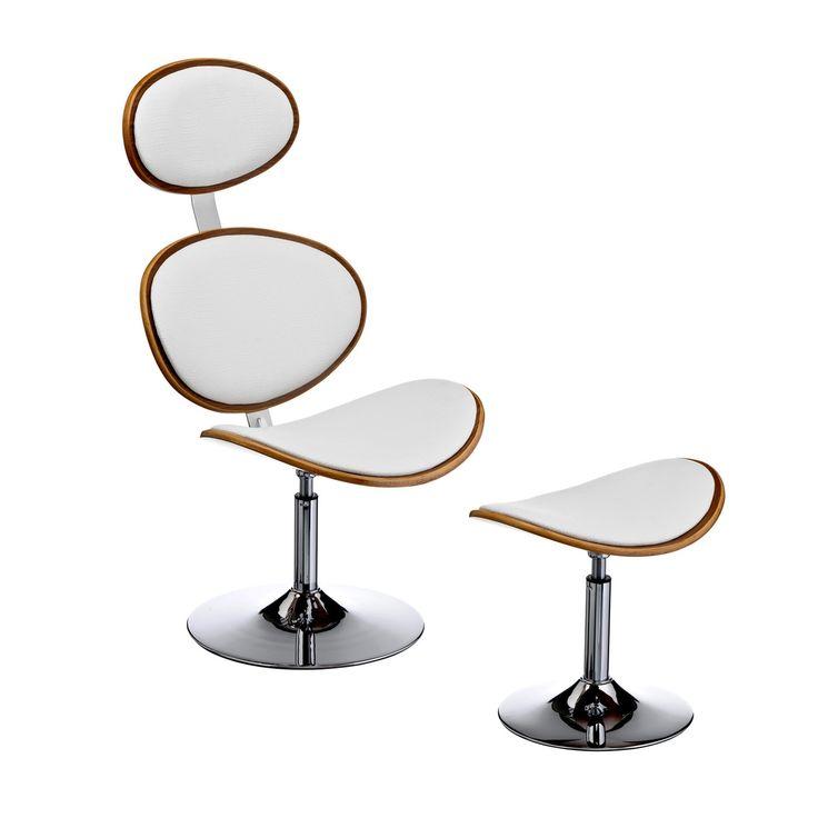 faux leather bar chair u0026 footstool