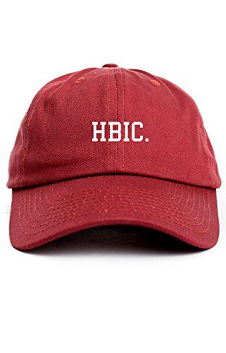 0bfd3ae088a CUSTOM HBIC Dad Hat Baseball Cap Unstructured Head B In Charge New  -Cardinal Red