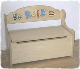 Personalized toy box/bench