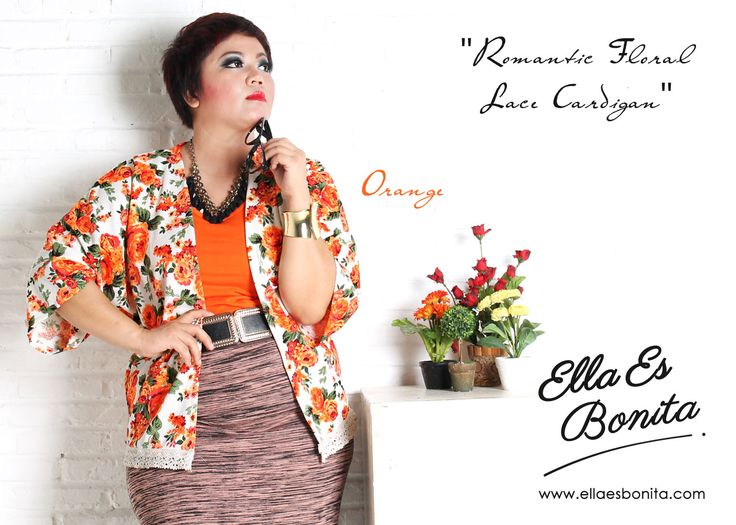 Romantic Floral Lace Cardigan - This floral lace cardigan features high quality semi wedges which specially designed for sophisticated curvy women originally made by Indonesian Designer & Local Brand: Ella Es Bonita. Available at www.ellaesbonita.com