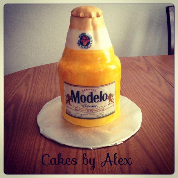 Modelo Beer Bottle Cake Birthday Cakes Pinterest