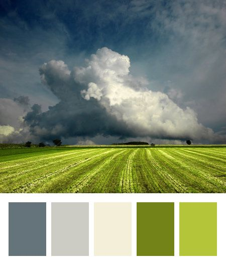 Kinda like this for Living room color scheme: Jade Green and stormy blues and grays.