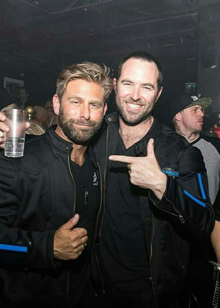 Josh Cartu and actor Sullivan Stapleton of TeamWolfpack, chilling out at one the stops on the Gumball3000 Rally. 2016